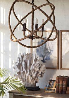 Nautical Rope - Home Decor - Beach House | Pendant lighting ...