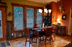 The open concept to the dining room gives a more informal feel while allowing for more flexibility in the use of the space. by Crosswood Homes, Inc. Woodland Park Colorado, Open Concept, Rustic Style, Flexibility, Dining Room, Homes, Windows, Traditional, Space