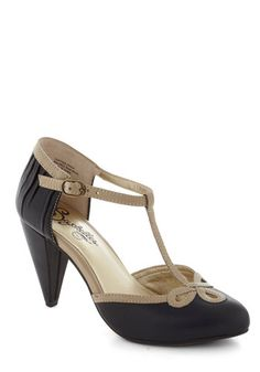 All Dressed Up Heel in Black, #ModCloth  Just got these too and they are beautiful!