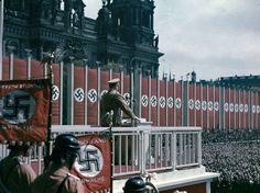 Adolf Hitler speaking at the Lustgarten, Berlin, 1938