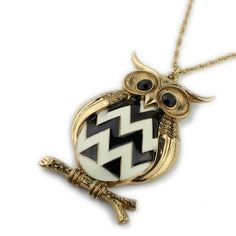 chic owl pandant necklace,fashion jewelry shop at Costwe.com