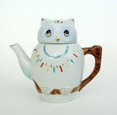 owl teapot and cup