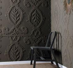Объемный рельефный рисунок на стенах