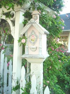 Pretty, shabby chic gate and mail box