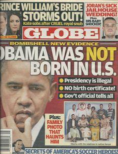 Globe magazine Barack Obama Prince William Kate Middleton American soccer heroes
