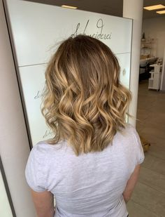 Balayage with lightning highlights and a warm beige tone by milkshake haircolor Blonde Balayage, Blonde Hair, Dress Out, Ghd, Curls, Hair Color, Milkshake, Hair Beauty, Long Hair Styles