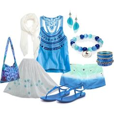 """""""Summertime Blues"""" by angie-farrell-elswick on Polyvore"""
