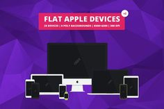 Flat Responsive Apple Web Mockups v2 by Mattias on @creativemarket