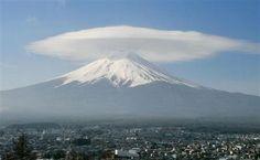 Silk hat on Mt. Fuji.