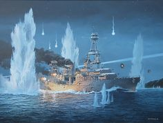 """lex-for-lexington: """" """" USS Houston, CA 30 valiantly fights on alone during the night of February 27-28, 1942 against an overwhelming Japanese Naval Force. """" """"They Sold Their Lives Dearly"""" by Tom..."""