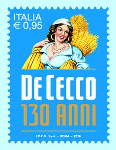 Un francobollo per il 130 anniversario del pastificio De Cecco