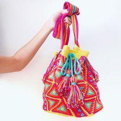 Handmade mochilla bag - crochet