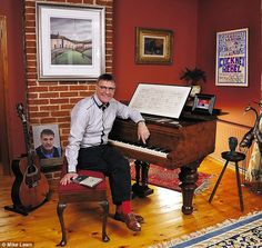 Steve Harley: What makes the Cockney Rebel singer smile? Relaxing in the living room at his Suffolk home Royalty Check, Steve Harley, Cheque, Beautiful Guitars, Rebel, Singer, Smile, Living Room, Home