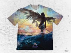 """Tatsu Ogata """"Awake"""" Men's Crew Neck T-Shirt Part of the Tatsu Ogata x Pulse Of Prophets Artist Series This piece is printed exclusively for you on high quality Various Artists, Vibrant Colors, Finding Yourself, Crew Neck, Artwork, Prints, Work Of Art, Vivid Colors, Auguste Rodin Artwork"""