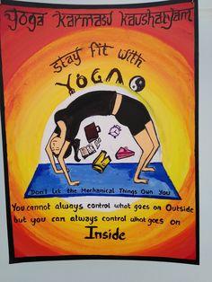 Poster Making on yoga