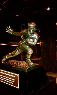 Heisman Memorial Trophy. Ready to see this on campus. Gig'em Aggies. Texas A & M. Manziel. Johnny Football is now Johnny Heisman.