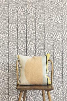 Herringbone Wallpaper | Modern Home (fermlivingshop.com)