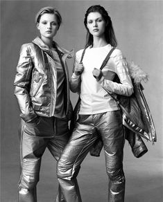 """""""Independence Day"""". Guinevere Van Seenus and Malgosia Bela photographed by Steven Meisel for US Vogue, July 1999"""