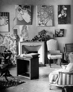 The interior of Matisse's home, 1946, Brassai