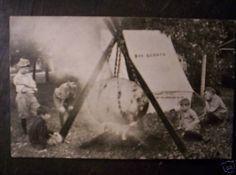 1912 POSTCARD BOY SCOUTS CAMPING WAUPUN WISCONSIN WIS |
