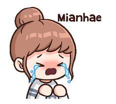 Cute Love Memes, Cute Love Gif, Cute Love Cartoons, Korean Expressions, Anime Expressions, Korean Emoticons, Animated Emojis, Baby Girl Drawing, Love Cartoon Couple