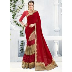 Buy Now Dark Red Color Party Wear Fancy Saree