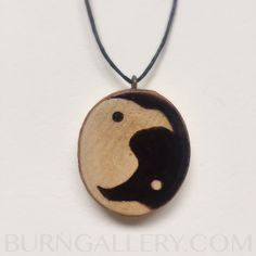 Pyrography woodburned norse pendant necklace viking by BurnGallery