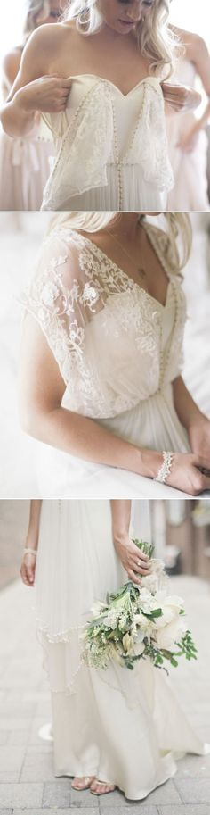 vintage v neck lace boho style wedding dresses
