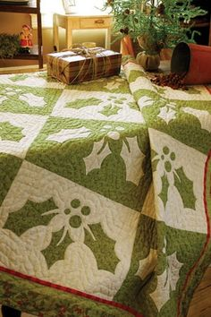 A holly quilt for Holly.