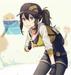 ♥ Girl... Sweating... Pokémon GO!... Blue Eyes... Pokémon Trainer... Anime ♥