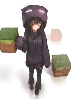 Anime Girl Enderman Minecraft
