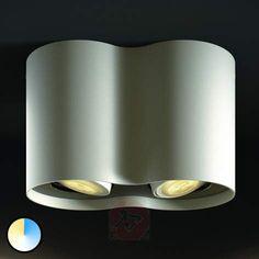 2 lys Philips Hue LED-spot Pillar m. lysdæmper