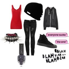 """""""Red and Black"""" by batman-nat on Polyvore"""