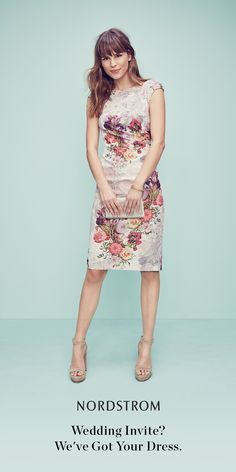 The perfect dress to celebrate in this summer.  This feminine floral print and flattering sheath silhouette makes this luxurious cocktail dress a must-have for any occasion this season.