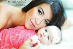 Mother and baby photo shoot