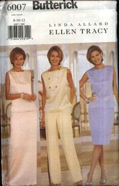 Butterick Sewing Pattern 6007 Misses Size 20-24 Formal Two-piece Dress Top Long Short Skirt Pants   Butterick+Sewing+Pattern+6007+Misses+Size+20-24+Formal+Two-piece+Dress+Top+Long+Short+Skirt+Pants