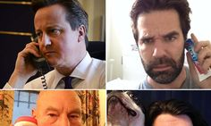 Cameron's serious selfie on the phone to Obama mocked online by comedians, animals and actor Patrick Stewart
