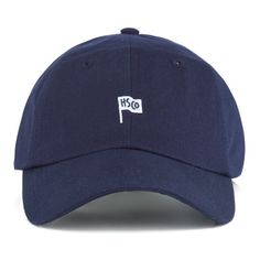2287b6d25f4 Sylas Cap - Navy ( 38) ❤ liked on Polyvore featuring accessories