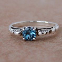 London Blue Topaz Sterling Silver Filigree by cavaliercreations, $48.00