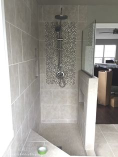 Master Bathroom Trim and Tile Update. Simple, Cheap and Easy Bathroom Renovation. Actually Ashley Blogs #bathroomrenovations