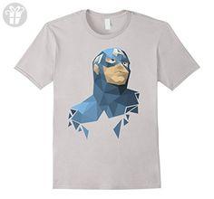 Men's Marvel Captain America Avengers Geometric Graphic T-Shirt XL Silver (*Amazon Partner-Link)