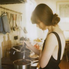 there is just something so simple and perfect about this and it makes me wish I were there cooking with her...