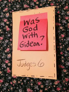 Children's Bible Lessons: Lesson - Gideon Is Chosen Verses For Kids, Bible Crafts For Kids, Bible Lessons For Kids, Crafts For Kids To Make, Sunday School Lessons, Sunday School Crafts, Gideon Bible, Bible Object Lessons, Kids Church