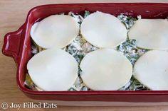 Spinach & Artichoke Chicken Casserole - Low Carb, Keto, Grain & Gluten Free, THM S