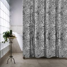 shop for park b smith cabbage rose luxury watershed shower curtain free shipping on