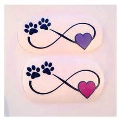 Only the best free Infinity Heart Paw Print Tattoos For Women tattoo's you can find online! Infinity Heart Paw Print Tattoos For Women tattoo's to print off and take to your tattoo artist. Mini Tattoos, Dog Tattoos, Cat Tattoo, Animal Tattoos, Body Art Tattoos, Small Tattoos, Cat Paw Print Tattoo, Mops Tattoo, Dog Memorial Tattoos