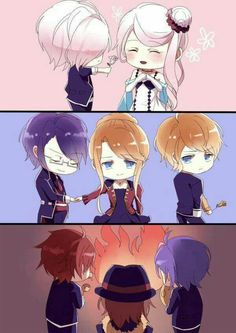 Let's spread diabolik lovers to all over the world with us to get an anime stuff you want free. Diabolik Lovers Laito, Ayato Sakamaki, Anime Chibi, Kawaii Anime, Manga Anime, Manga Girl, Anime Art, Anime Love, Anime Guys