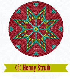 Pattern bottom Mochilla look-a-like bag red yellow aqua variation 5