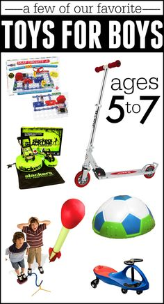 Awesome toys for boys ages 5-7! This list also has some great ideas for handmade gift ideas as well!