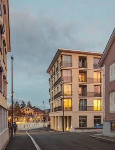 Image 21 of 26 from gallery of Flawil Apartments / Brechbuehler Walser Architekten. Photograph by Andreas Buschmann Atrium, Public Restaurant, Apartment Complexes, Contemporary Classic, Modern Architecture, Multi Story Building, City, Gallery, Apartments